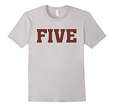 Big Maroon Color 5 Five T Shirt