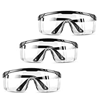 DeHasion Protective Eye Goggles Full Coverage Safety Glasses Perfect Eye Protection for Workplace Safety Goggles Over Glasses 1-Packs//Full Coverage