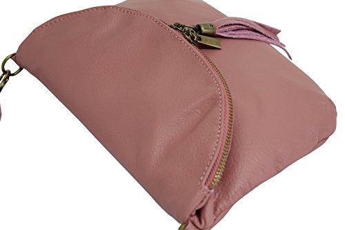 Pour Ambra Pochette Cuir Sacs Foncé Femme Sac À Rose Moda Petit En Nl609 Bandoulière Portés Lisse Italien Épaule rXS8qrwOzn