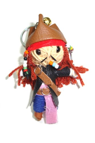 Captain Jack Sparrow Voodoo String Doll Keyring Keychain