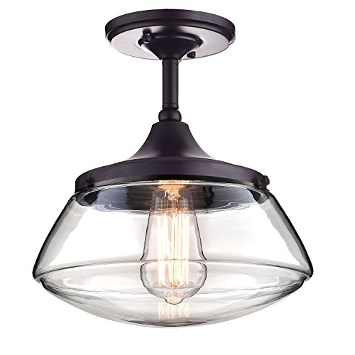 CLAXY¨ Ecopower Vintage Metal & Glass Ceiling Light 1-lights Pendant Lighting Chandelier