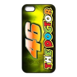 iPhone 5,5S Phone Case Black Valentino Rossi HUX324674