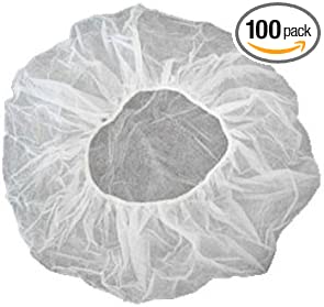 Suntanning salons various pack sizes Brown Disposable Hair Nets for Catering