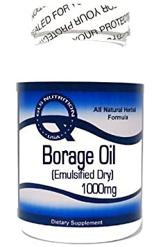 Borage Oil Concentrate Emulsified Dry 1000mg 200 Capsules GLS
