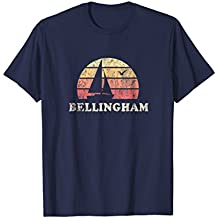 Bellingham WA T-Shirt Vintage Sailboat 70s Throwback Sunset