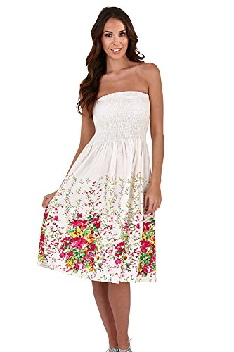 Pistache Femme Floral dcontract Robe - Rouge - 36 White/Pink Ditsy Floral