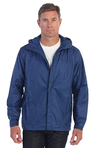 Gioberti Men's Waterproof Rain Jacket, Navy, M by Gioberti