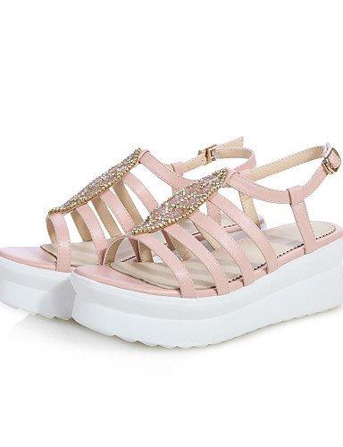 Shangyi Vaaleanpunainen Naisten Kengät Rento Ulkona Creepers Sandaalit Slingback Tasainen Alustan Mekko Kantapää qqTSRr