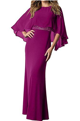 Abendkleider Fuchsia Ballkleider Brautmutterkleider Festlichkleider Charmant Damen Partykleider Chiffon Langes 8WwHxwAqtX