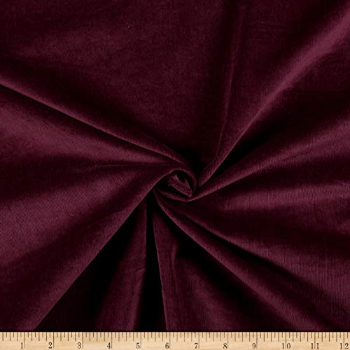 (Telio 21W Stretch Corduroy Fabric, Eggplant, Fabric By The Yard)