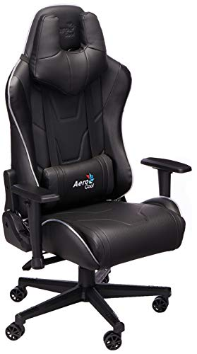 Aerocool AC220 Air RGB-B Gaming Chair - Silla multiplataforma, Color Negro