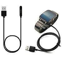 E-fashion Cargador Compatible para Asus Zenwatch 2, 3.3 pies portátil Cable de carga USB Reemplazo Estación de soporte de carga Compatible para Asus Zenwatch2 - WI501Q /WI502Q