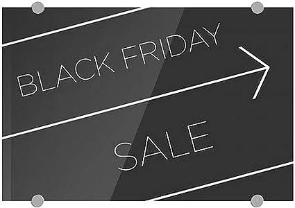 Black Friday Sale 36x24 Basic Black Premium Brushed Aluminum Sign CGSignLab
