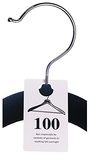 - Zilpoo 100 Tags - Plastic Coat Room Checks, Reusable White Coatroom Hanger Claim Tickets, Consecutive Numbers (201-300)
