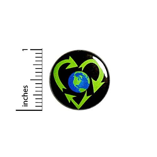 """24-PK REUSE REDUCE RECYCLE BUTTONS Badge 1-1//4/"""" w//Pinback NEW"""