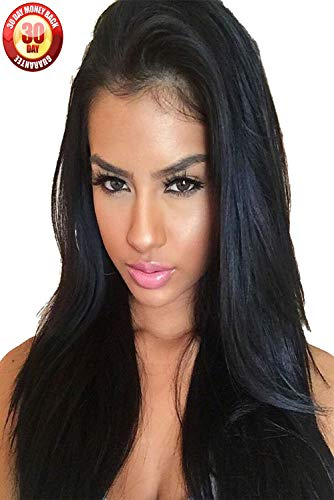 Hairline Synthetic Hair Lace - Straight Glueless Lace Front Wigs, Synthetic Light Yaki Wigs 24