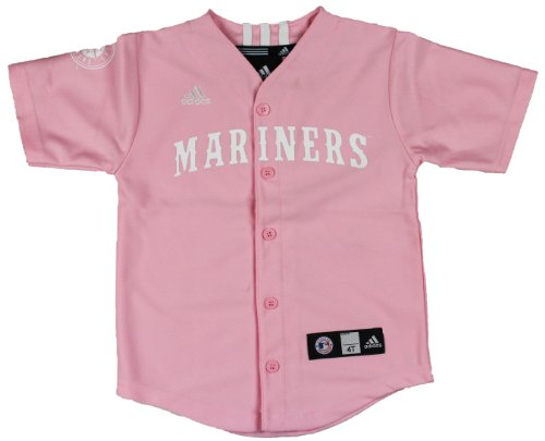 MLB Seattle Mariners Pink Toddlers Jersey By Adidas (Toddler (2T))