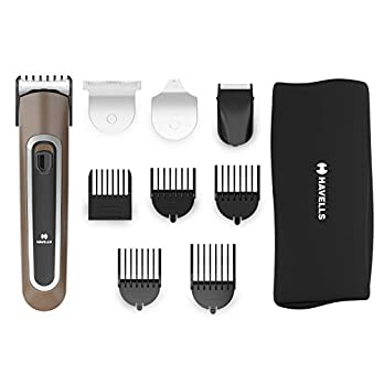 Havells GS6451 – Fast Charge 4-in-1 Grooming Kit for Beard & Hair Trimming (Brown)