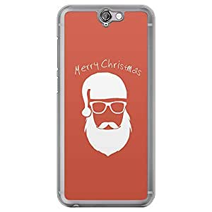Loud Universe HTC One A9 Merry Christmas 2014 Santa Badge Printed Transparent Edge Case - Red