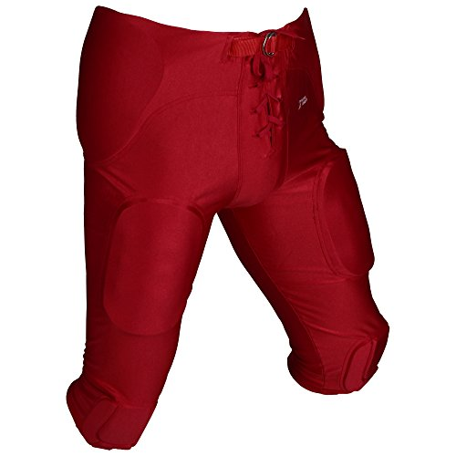 Football nbsp;couleurs nbsp;pads 5 In Pant Padded One Athletics All 'active Pantalon 7 Game En Rot Spandex xqTz1n6
