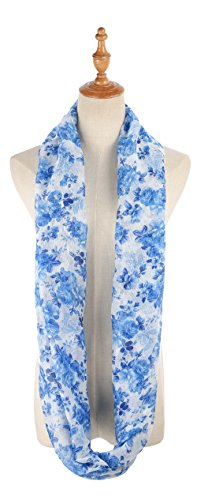 Review Infinity Scarfs for Women Loop Circle Scarves Flower Print Lightweight Scarf