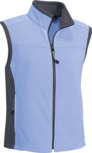North End Ladies Microfleece Vest. 78041 - Medium - Periwinkle Mist / Gunmetal