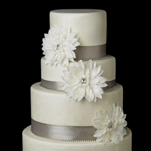 Starburst Ivory Dahlia Flower Wedding Cake Decorators ()