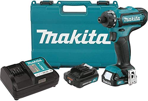 Makita FD06R1 12V Max CXT Lithium-Ion Cordless Hex Driver-Drill Kit, 1/4″