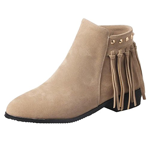 Side Zipper KemeKiss Fashion 1 Apricot Bootie Women Pa8tW18U
