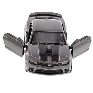 Kinsmart Die-Cast Metal Model 1:38 Scale 2014 Camaro Racing Car Toy Pull Back Dark Gray