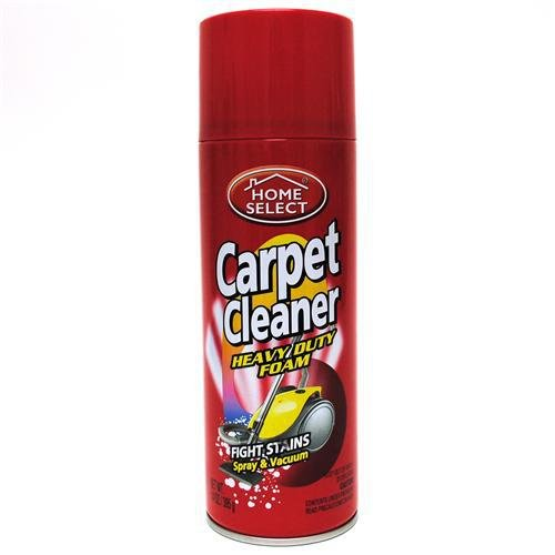 Home Select 6108 Carpet Cleaner Heavy Duty Foam in Aerosol Spray Can, - Aerosol Select