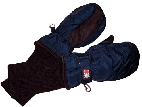 Cuff Snow (SnowStoppers Kid's Waterproof Stay On Winter Nylon Mittens Small / 1-3 Years Navy)
