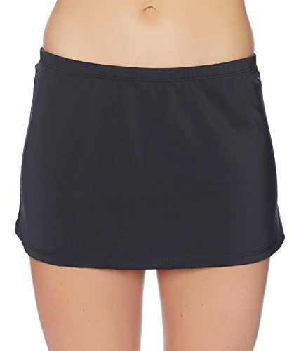 Nautica Women's Signature Skirted Bikini Bottom, Black, Large