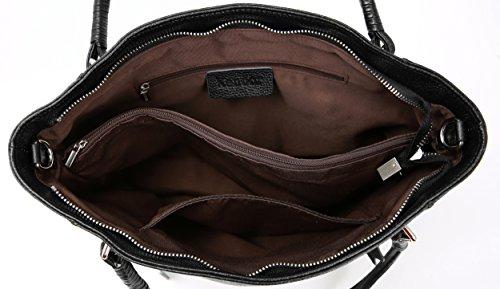 Clearance Summer Kenoor Handbags Designer Bag Leather Satchel Women Tote for on Bags Black Shoulder 64ZRwwqd