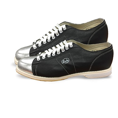 Linds Bowling Shoes, Silver/Black, 9.5