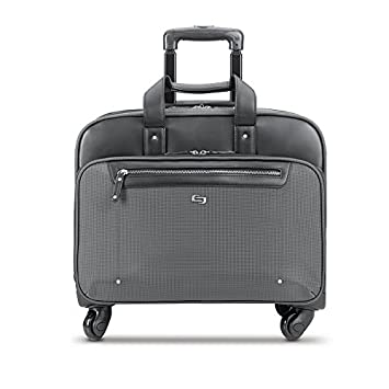 8b38d0538a79 Solo New York Gramercy Rolling Laptop Bag. 4 Wheel Rolling Briefcase for  Women and Men. Fits up to 15.6 inch laptop - Grey