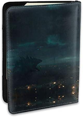 Godzilla King Of The Monsters ゴジラ パスポートケース メンズ レディース パスポートカバー パスポートバッグ ポーチ 6.5インチ PUレザー スキミング防止 安全な海外旅行用 収納ポケット 名刺 クレジットカード 航空券