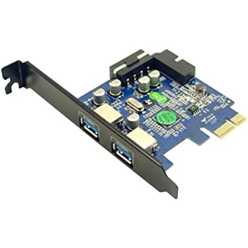 Syba SD-PEX20139 2 Port USB 3.0 PCIe 2.0 x1 Card Green metallic