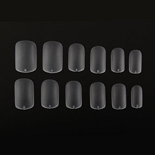 MAKARTT 504Pcs 0 12mm Acrylic Salons