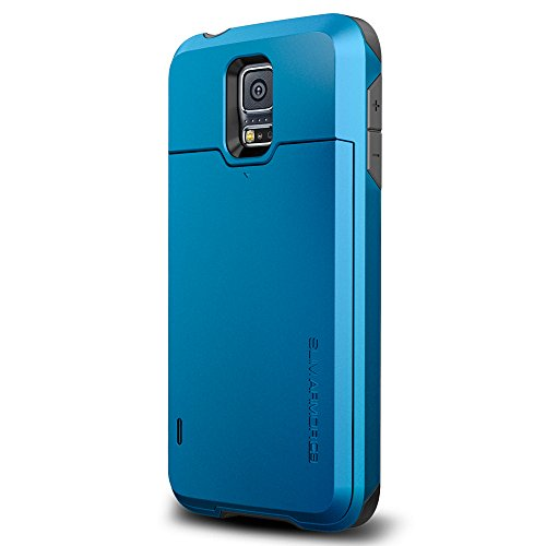 low priced 1d1db 67711 Spigen Slim Armor CS Galaxy S5 Case with Slim Dual Layer Wallet Design and  Card Slot Holder for Samsung Galaxy S5 2014-Electric