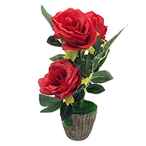 Macrorun Silk Artificial Flowers Bouquet Simulation Real Touch Flower Floral Photography Props Home Party Wedding Decoration (Rose) 65