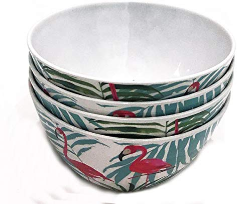(Cynthia Rowley Set of 4 Melamine Soup/Cereal/Dessert Bowls Tropical)