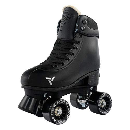 (Crazy Skates Adjustable Roller Skates for Boys and Girls - Jam Pop Series - Black Medium (Sizes 3-6))