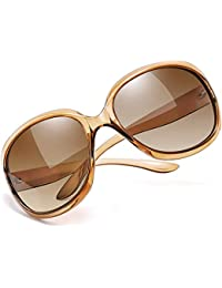 Joopin Oversized Polarized Sunglasses for Women, Ladies Fashion Thick Big Frame Sun Glasses Shades for Women (Gradient Brown)