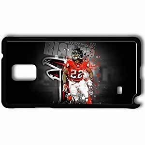 Personalized Samsung Note 4 Cell phone Case/Cover Skin 14563 falcons wp 41 sm Black