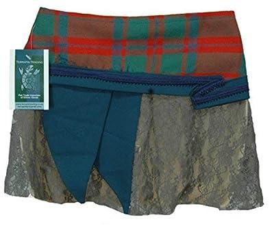 One Size Wrap Scottish Tartan Kilt Wraparound Skirt (Goth Steampunk Psytrance T