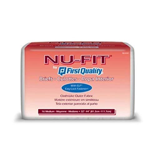First Quality Nu-Fit Adult Briefs - First Quality Adult Brief Medium NU-012/1 - Case of 96 - FQPNU0121FQPNU0121_cs