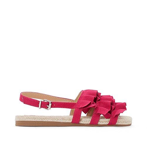 La Redoute Womens Frou Flat Sandals Fuchsia Pink