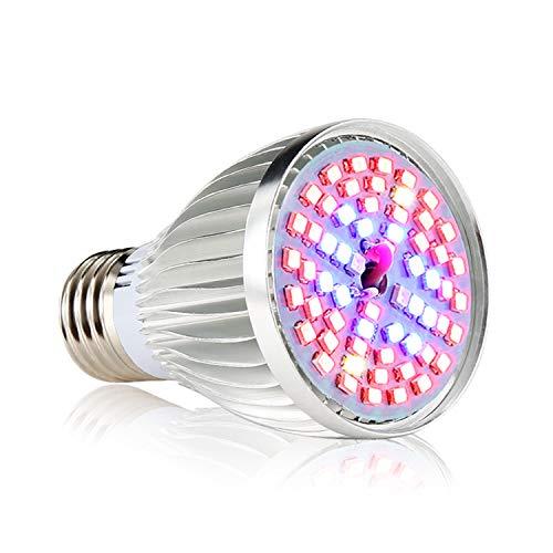 Led Grow Light Bulb, 60W Full Spectrum Grow Lights E26 Grow Plant Light for Hydroponics Greenhouse Organic, Lights for Fish Tank, Hydroponic Aquatic Indoor Plants,Pack of 1