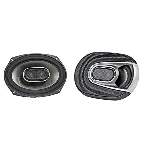 Three Way Mounting Neodymium Tweeters (Polk Audio MM692 Series 6x9 Inch 450W Coaxial Marine Boat ATV Car Audio Speakers)
